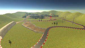 Virtuelle Teststrecke im Simulationssystem VEROSIM.